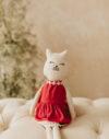 Domnisoara Pisini jucarie textila material natural bumbac doudou papusa material textil