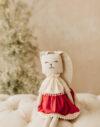 Iepurica jucarie textila bumbac papusa textila material natural doudou textile toy fabric toy iepuras de jucarie