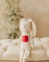 Iepurichi jucarie textila bumbac material natural papusa textila doudou iepuras