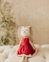 Petunia jucarie textila iepuras bumbac material textil papusa doudou fabric textile toy
