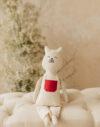 domnul Pisini jucarie textila bumbac material natural papusa material textil pisica doudou